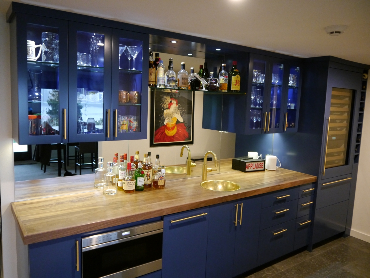 Kenmore Modern Kitchen Remodel With  Cabinet Finishes - Modern kitchen remodel