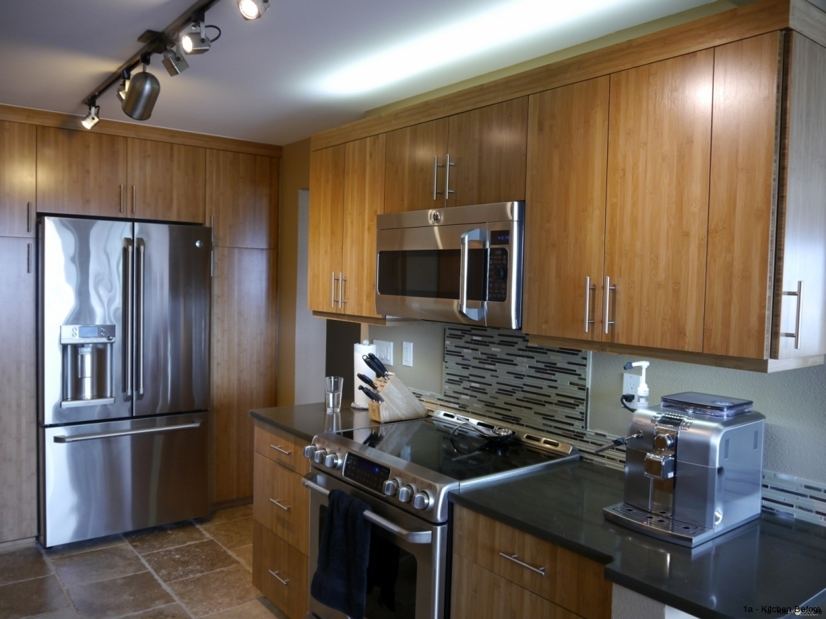 Queen anne seattle modern kitchen remodel with bamboo for Kitchen cabinets seattle