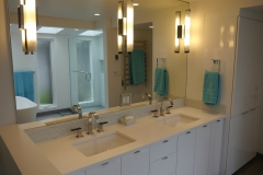 Bellevue - Woodridge Master Bath Remodel - Vanity Wall After