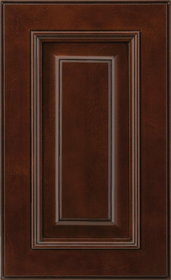 Mendocino Door Maple Clove Stain Tierra Glaze & Applied Molding Doors