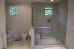 Innis Arden - Shoreline Master Bath Remodel - Shower Wall After