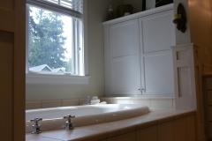 Innis Arden - Shoreline Master Bath Remodel - Makeup Vaniity Wall Before