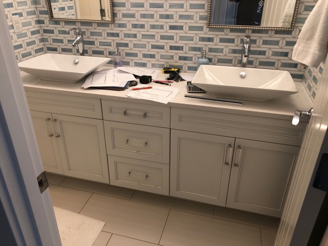 Kirkland Transitional Guest Bathroom Remodel Innovative