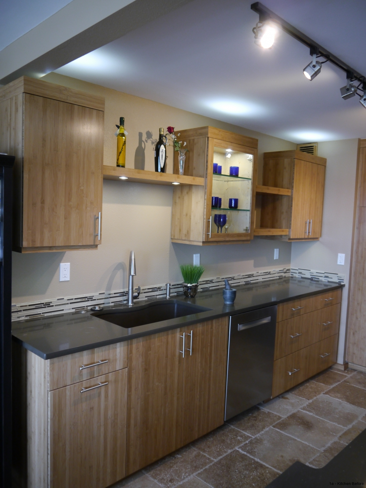 Queen Anne Seattle Modern Kitchen Remodel With Bamboo Cabinetry