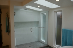 Bellevue - Woodridge Master Bath Remodel - New Shower Wall After