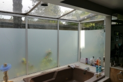 Bellevue - Woodridge Master Bath Remodel - Exterior Wall Before