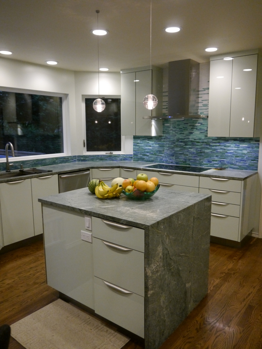 Woodinville Modern Kitchen Remodel on green countertop options, green soapstone counter, green bathroom vanity, green minas soapstone, green counters in kitchen,