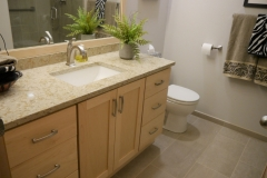 After - Woodinville Transitional Guest Bathroom Remodel
