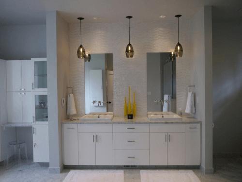 Bathroom vanity makeover photo via Innovative Kitchen & Bath