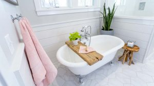Make your bathroom lighter and brighter for summer.